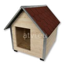 AtviPets Dog House With Sharped Roof Bituminous Shingle Size 4, image