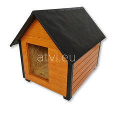 AtviPets Insulated Dog House With Sharped Roof Bituminous Cardboard Size 2, image