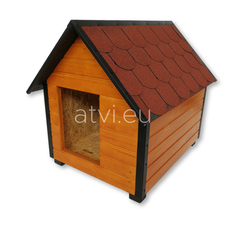AtviPets Insulated Dog House With Sharped Roof Bituminous Shingle Size 2, image