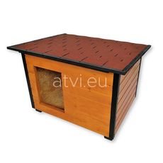 AtviPets Insulated Dog House With Folding Roof Bituminous Shingle Size 3, image