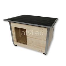 AtviPets Cusca Caine cu Acoperis Rabatabil Carton Bituminat Marime 2, imagine