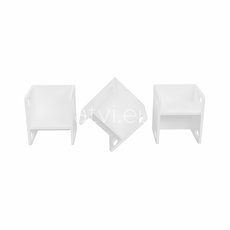 AtviKids Cubix Scaun Montessori Marime 1 Alb, imagine