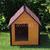 AtviPets Insulated Dog House With Sharped Roof Bituminous Shingle Size 3, image , 8 image