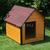 AtviPets Insulated Dog House With Sharped Roof Bituminous Shingle Size 1, image , 9 image