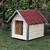 AtviPets Dog House With Sharped Roof Bituminous Shingle Size 1, image , 7 image