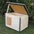 AtviPets Dog House With Folding Roof Bituminous Shingle Size 3, image , 16 image