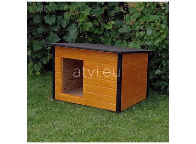 AtviPets Insulated Dog House With Folding Roof Bituminous Cardboard Size 3, image , 11 image