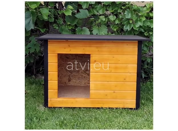 AtviPets Insulated Dog House With Folding Roof Bituminous Cardboard Size 3, image , 12 image
