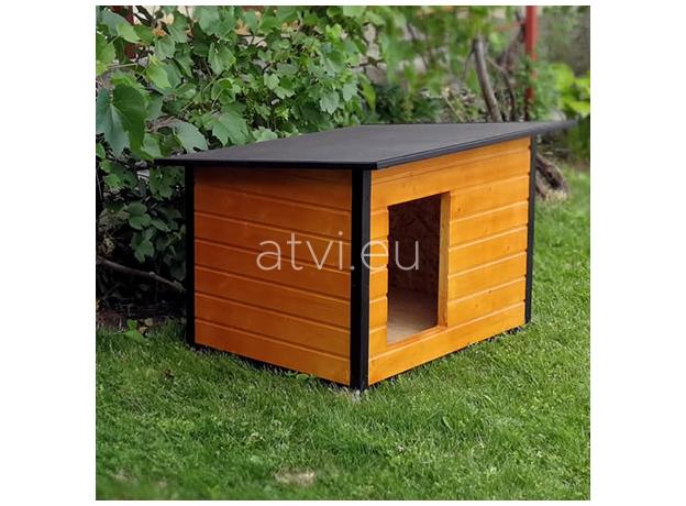 AtviPets Insulated Dog House With Folding Roof Bituminous Cardboard Size 3, image , 13 image