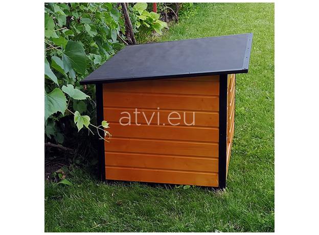 AtviPets Insulated Dog House With Folding Roof Bituminous Cardboard Size 3, image , 15 image