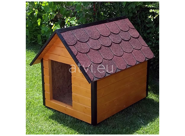 AtviPets Insulated Dog House With Sharped Roof Bituminous Shingle Size 1, image , 7 image