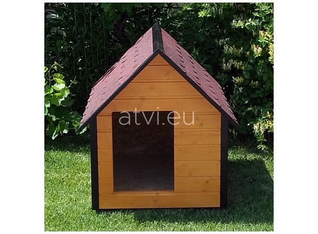 AtviPets Insulated Dog House With Sharped Roof Bituminous Shingle Size 2, image , 8 image