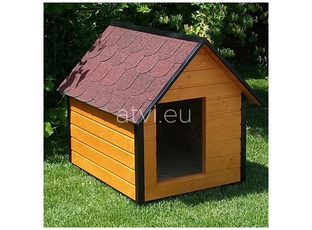 AtviPets Insulated Dog House With Sharped Roof Bituminous Shingle Size 2, image , 9 image