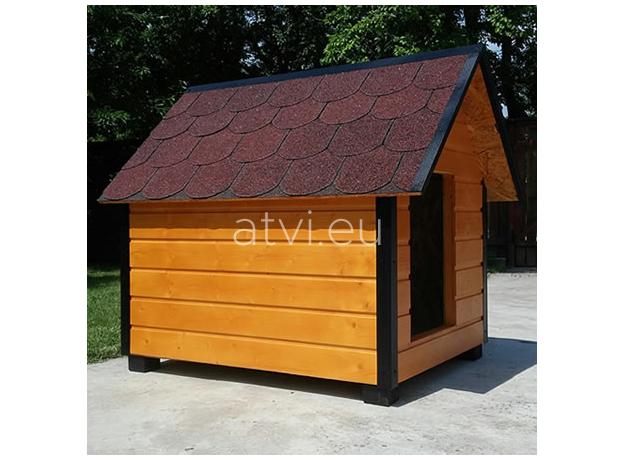 AtviPets Insulated Dog House With Sharped Roof Bituminous Shingle Size 2, image , 10 image