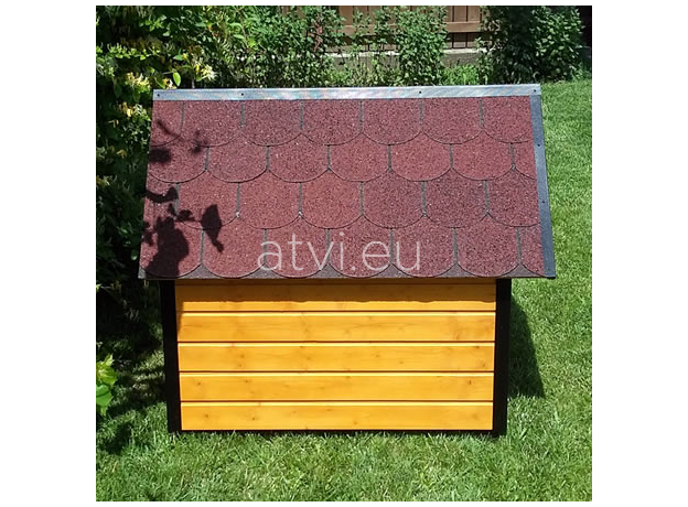 AtviPets Insulated Dog House With Sharped Roof Bituminous Shingle Size 2, image , 12 image