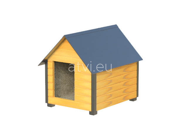AtviPets Insulated Dog House With Sharped Roof Bituminous Cardboard Size 1, image , 7 image
