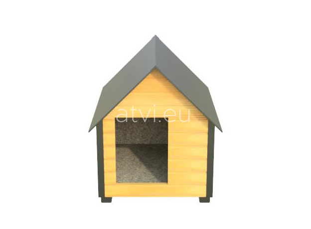 AtviPets Insulated Dog House With Sharped Roof Bituminous Cardboard Size 1, image , 8 image