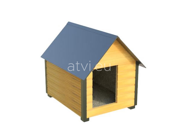 AtviPets Insulated Dog House With Sharped Roof Bituminous Cardboard Size 1, image , 9 image
