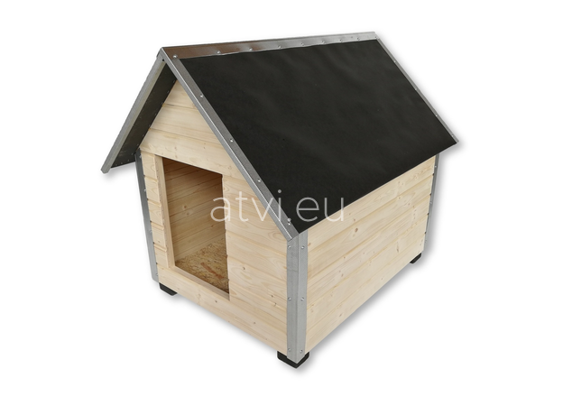 AtviPets Dog House With Sharped Roof Bituminous Cardboard Size 2, image