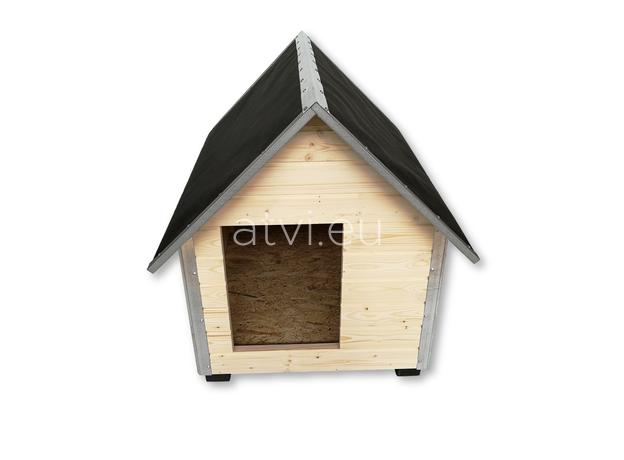 AtviPets Dog House With Sharped Roof Bituminous Cardboard Size 2, image , 2 image