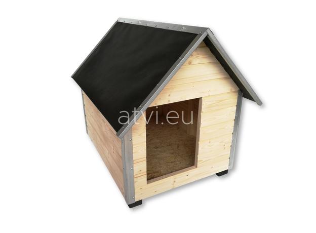 AtviPets Dog House With Sharped Roof Bituminous Cardboard Size 2, image , 3 image