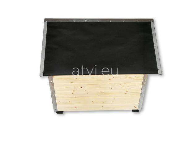 AtviPets Dog House With Sharped Roof Bituminous Cardboard Size 3, image , 4 image