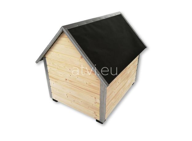 AtviPets Dog House With Sharped Roof Bituminous Cardboard Size 2, image , 5 image