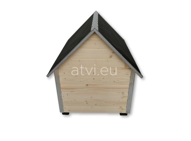 AtviPets Dog House With Sharped Roof Bituminous Cardboard Size 2, image , 6 image