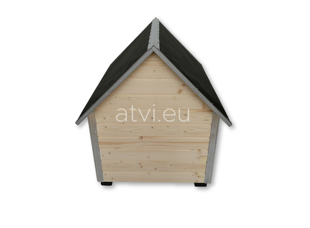AtviPets Dog House With Sharped Roof Bituminous Cardboard Size 3, image , 6 image