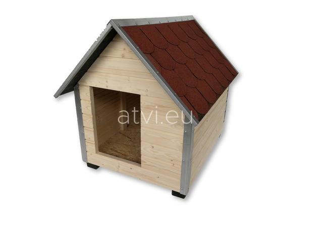 AtviPets Dog House With Sharped Roof Bituminous Shingle Size 1, image