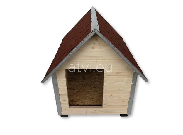AtviPets Dog House With Sharped Roof Bituminous Shingle Size 4, image , 2 image