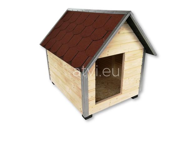 AtviPets Dog House With Sharped Roof Bituminous Shingle Size 4, image , 3 image