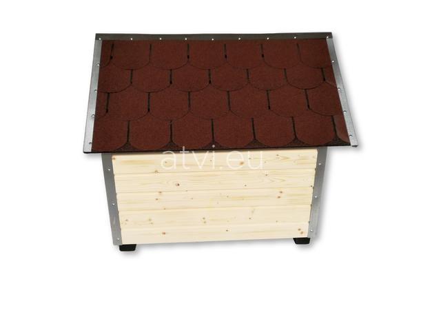 AtviPets Dog House With Sharped Roof Bituminous Shingle Size 3, image , 4 image