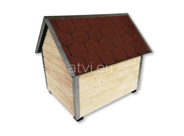 AtviPets Dog House With Sharped Roof Bituminous Shingle Size 3, image , 5 image
