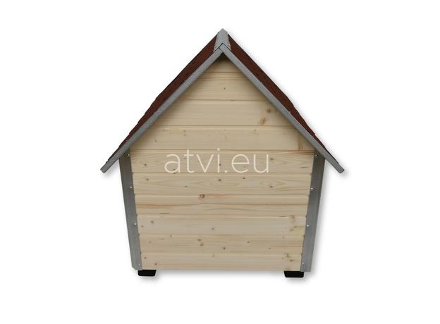 AtviPets Dog House With Sharped Roof Bituminous Shingle Size 3, image , 6 image