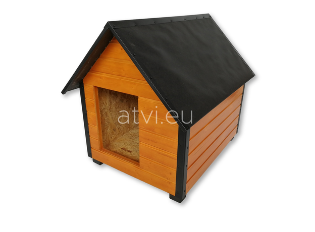 AtviPets Insulated Dog House With Sharped Roof Bituminous Cardboard Size 4, image