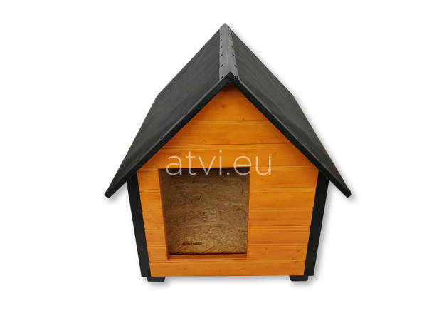 AtviPets Insulated Dog House With Sharped Roof Bituminous Cardboard Size 1, image , 2 image