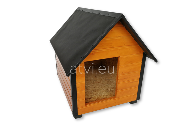 AtviPets Insulated Dog House With Sharped Roof Bituminous Cardboard Size 1, image , 3 image