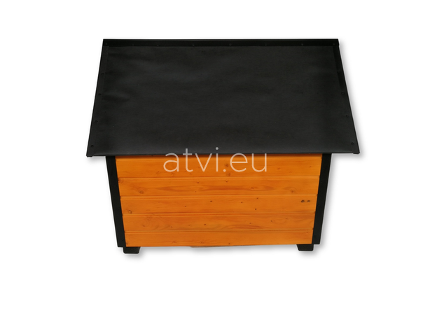 AtviPets Insulated Dog House With Sharped Roof Bituminous Cardboard Size 4, image , 4 image