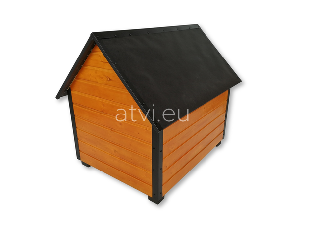 AtviPets Insulated Dog House With Sharped Roof Bituminous Cardboard Size 4, image , 5 image