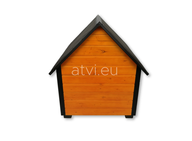 AtviPets Insulated Dog House With Sharped Roof Bituminous Cardboard Size 1, image , 6 image