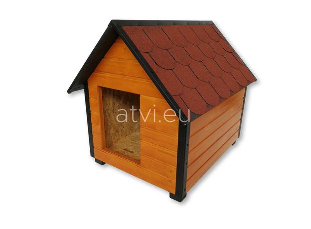 AtviPets Insulated Dog House With Sharped Roof Bituminous Shingle Size 1, image