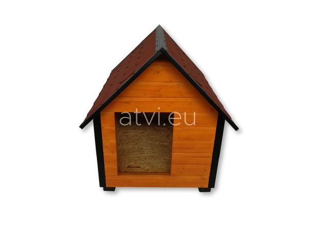 AtviPets Insulated Dog House With Sharped Roof Bituminous Shingle Size 3, image , 2 image