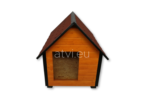 AtviPets Insulated Dog House With Sharped Roof Bituminous Shingle Size 2, image , 2 image