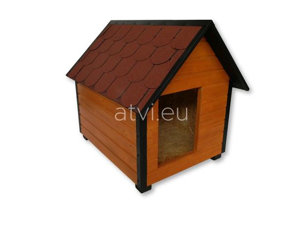 AtviPets Insulated Dog House With Sharped Roof Bituminous Shingle Size 1, image , 3 image