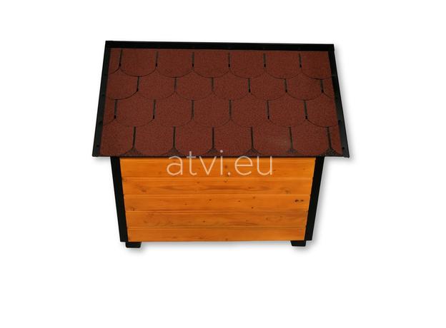 AtviPets Insulated Dog House With Sharped Roof Bituminous Shingle Size 2, image , 4 image