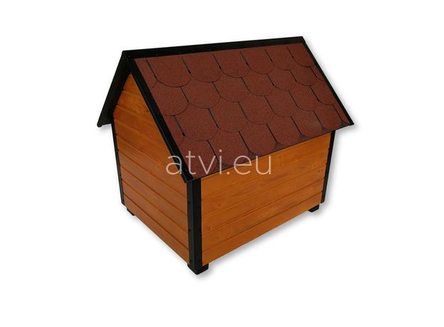 AtviPets Insulated Dog House With Sharped Roof Bituminous Shingle Size 2, image , 5 image