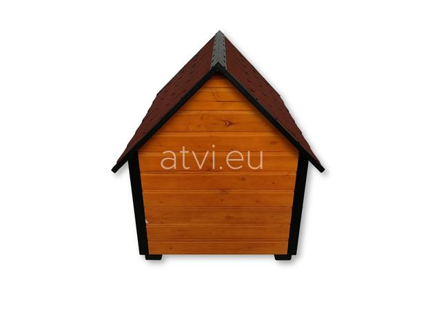 AtviPets Insulated Dog House With Sharped Roof Bituminous Shingle Size 2, image , 6 image