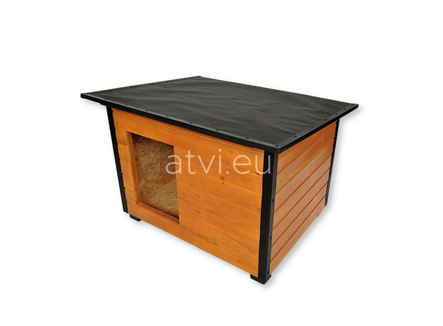 AtviPets Insulated Dog House With Folding Roof Bituminous Cardboard Size 3, image