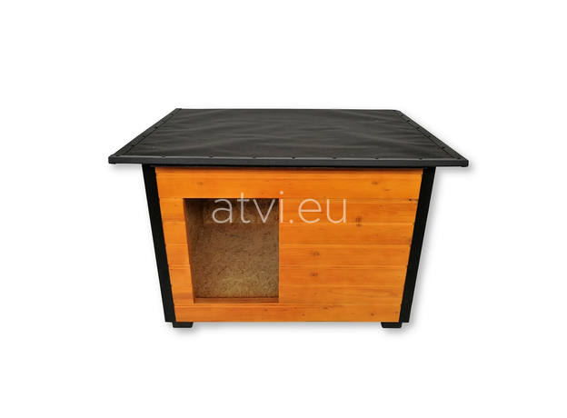 AtviPets Insulated Dog House With Folding Roof Bituminous Cardboard Size 3, image , 2 image